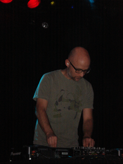 Moby performs last night